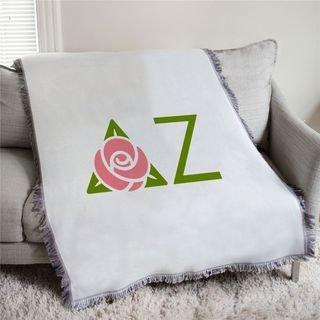 Delta Zeta Logo Afghan Blanket Throw