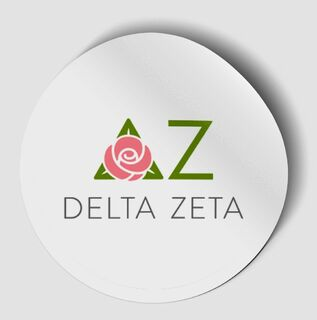 Delta Zeta Logo Round Decal
