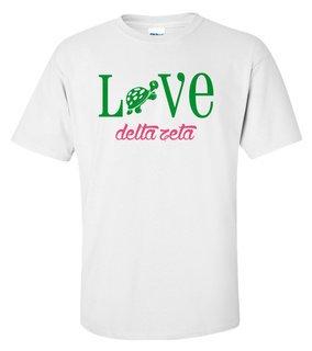 Delta Zeta Love Mascot T-Shirt