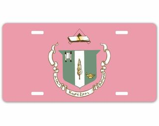 Delta Zeta Crest - Shield License Plate
