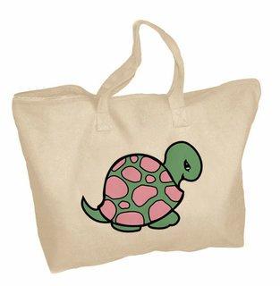 Delta Zeta Mascot Zippered Tote Bag
