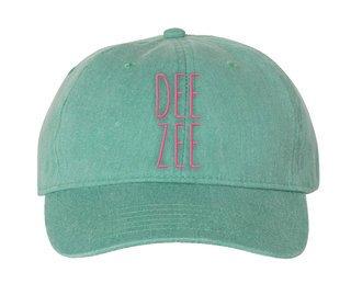 Delta Zeta Mod Comfort Colors Pigment Dyed Baseball Cap