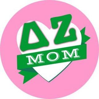 Delta Zeta Mom Round Decals