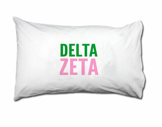 Delta Zeta Name Stack Pillow Cover