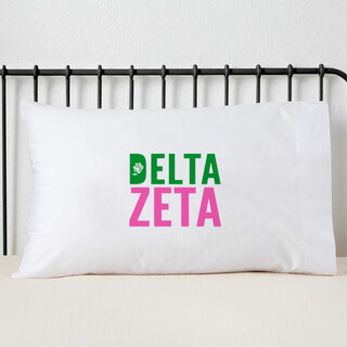 Delta Zeta Name Stack Pillow Cover