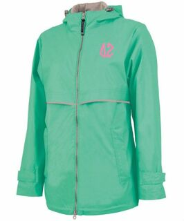 Delta Zeta New Englander Circle Monogram Rain Coat