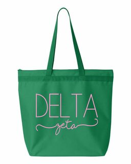 Delta Zeta New Handwriting Tote Bag