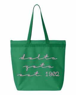 Delta Zeta New Script Established Tote Bag