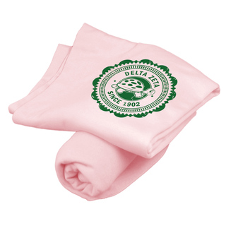 Delta Zeta Old School Seal Sweatshirt Blanket