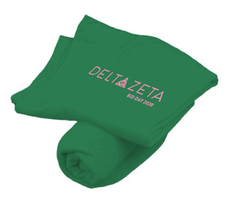Delta Zeta Mascot Sweatshirt Blanket