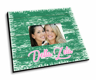 Delta Zeta Painted Fence Picture Frame