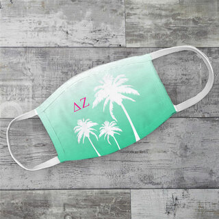 Delta Zeta Palm Trees Face Mask
