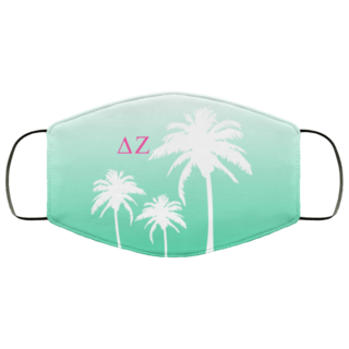 Delta Zeta Palm Trees Face Mask