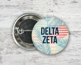 Delta Zeta Paradise Found Button