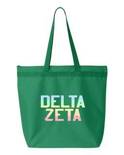 Delta Zeta Pastel Tote Bag