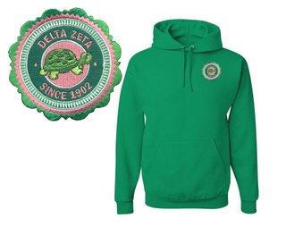 Delta Zeta Patch Seal Hooded Sweatshirt