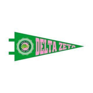 "Delta Zeta Pennant Decal 4"" Wide"