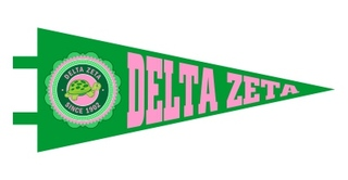 Delta Zeta Pennant Decal Sticker
