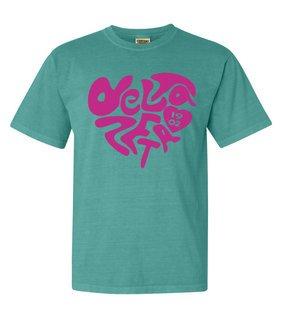 Delta Zeta Piece of My Heart Sorority Comfort Colors T-Shirt