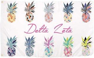 Delta Zeta Pineapple Flag