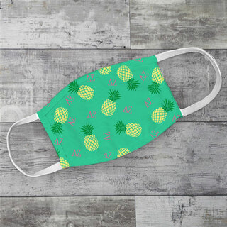 Delta Zeta Pineapples Face Mask