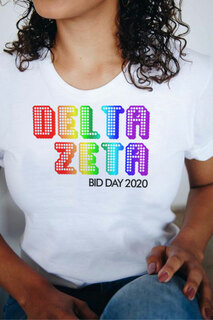 Delta Zeta Pixel Tee - Comfort Colors