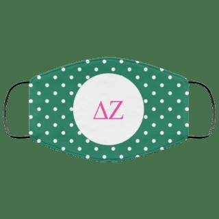Delta Zeta Polka Dots Face Mask