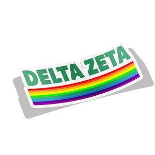 Delta Zeta Prism Decal Sticker