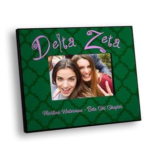 Delta Zeta Quatrefoil Picture Frame