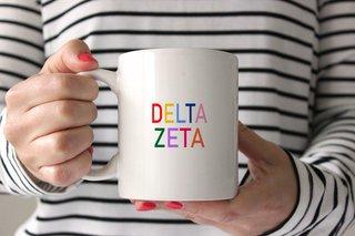 Delta Zeta Rainbow Coffee Mug