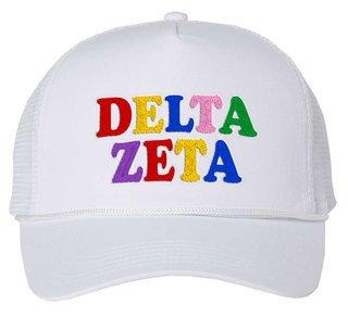 Delta Zeta Rainbow Trucker Hat
