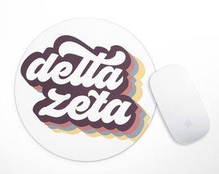 Delta Zeta Retro Script Mousepad