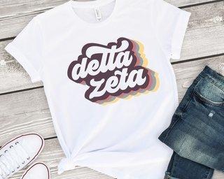 Delta Zeta Retro Script Tee
