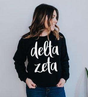 Delta Zeta Script Crew Sweatshirt