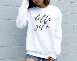 Delta Zeta Script Sweatshirt