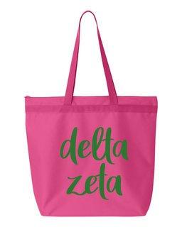 Delta Zeta Script Tote Bag