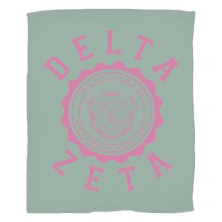 Delta Zeta Seal Fleece Blanket