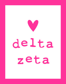 Delta Zeta Simple Heart Sticker