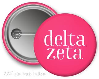 Delta Zeta Simple Text Button