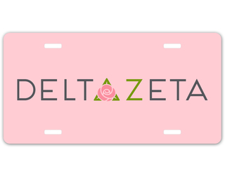Delta Zeta Sorority Logo License Cover