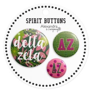Delta Zeta Sorority New Spirit Button Set