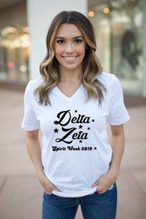 Delta Zeta Spirit Stars V-Neck