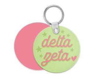 Delta Zeta Star Key Chain