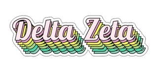Delta Zeta Step Decal Sticker