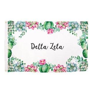 Delta Zeta Succulent Flag