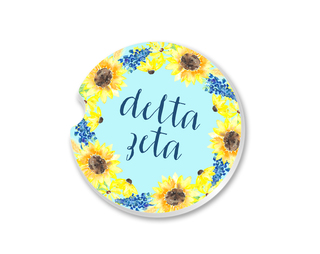 Delta Zeta Sunflower Car Coaster