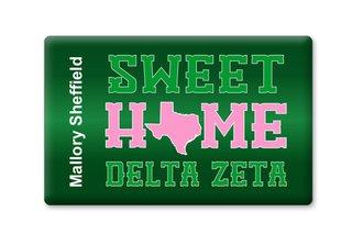 Delta Zeta Sweet Home Ceramic Magnet