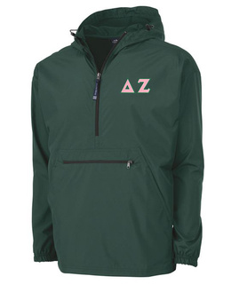 Delta Zeta Tackle Twill Lettered Pack N Go Pullover