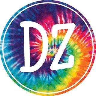 Delta Zeta Tie-Dye Circle Sticker