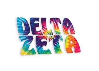 Delta Zeta Tie-Dye Stack Sticker